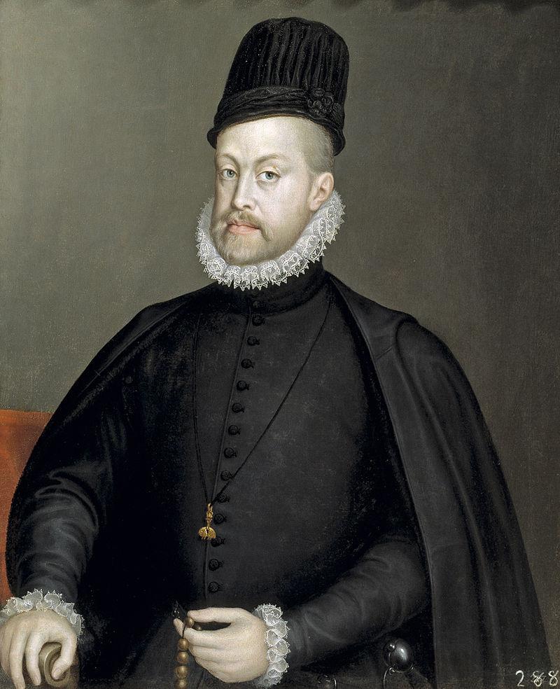 Filip II, ensimmäinen virallinen Espanjan kuningas 1556—1598, Napolin ja Sisilian kuningas 1544–1559 ja Portugalin kuningas (hallitsijanimellä Filip I) 1580–1598 sekä Englannin kuningas 1554–1558 vaimonsa Maria I:n puolisona.